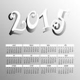 Jaar 2015 Twee Tone Color Calendar Vector Royalty-vrije Stock Afbeeldingen