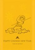 Jaar van Aap; Chinese Nieuwjaar Vectorachtergrond Royalty-vrije Stock Afbeeldingen