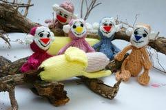 Jaar van aap, gebreid stuk speelgoed, met de hand gemaakt symbool, Stock Afbeeldingen