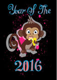 Jaar van de Aap 2016 Stock Foto's