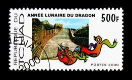 Jaar van de Draak, Chinees Nieuwjaar serie, circa 2000 Stock Foto
