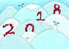 Jaar van de Hond Ð ¡ hinese horoscoophond Vector de winterillustratie stock illustratie