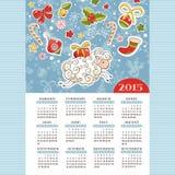 Jaar van de schapenkalender Royalty-vrije Stock Foto