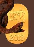 Jaar van de slang 2013 Stock Fotografie