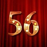 56 jaar van de verjaardagsviering het ontwerp Stock Afbeeldingen