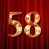 58 jaar van de verjaardagsviering het ontwerp stock illustratie