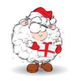 2015 Jaar van Geit Nieuwjaar en Kerstkaart Royalty-vrije Stock Foto's