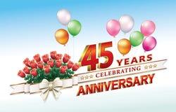 45 jaar verjaardags Stock Foto
