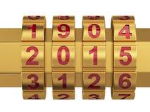 2015 Jaarcombinatieslot Royalty-vrije Stock Afbeelding