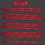 2017 Jaarkalender met rode stroken op donkere achtergrond Royalty-vrije Stock Fotografie