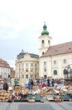 Jaarlijks aardewerkmarkt in Sibiu 2010 Stock Foto