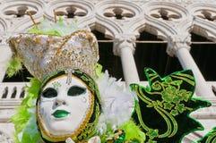 Jaarlijks Carnaval bij de stad van Venetië, Italië Royalty-vrije Stock Afbeelding