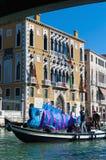 Jaarlijks Carnaval dat in Venetië, Italië wordt uitgevoerd Stock Afbeelding