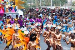 Jaarlijks Carnaval in het kapitaal in Kaapverdië, Praia Royalty-vrije Stock Afbeelding