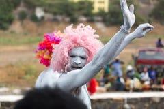 Jaarlijks Carnaval in het kapitaal in Kaapverdië, Praia Stock Fotografie