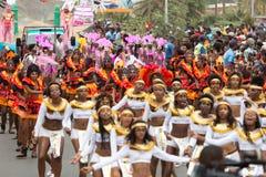 Jaarlijks Carnaval in het kapitaal in Kaapverdië, Praia Stock Foto's