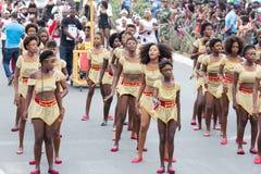 Jaarlijks Carnaval in het kapitaal in Kaapverdië, Praia stock foto