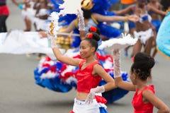 Jaarlijks Carnaval in het kapitaal in Kaapverdië, Praia Royalty-vrije Stock Foto