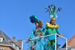 Jaarlijks Carnaval in Nivelles, België Stock Afbeeldingen