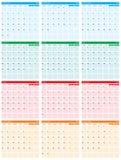 Jaarlijks kalender vlak ontwerp 2017 Stock Afbeeldingen