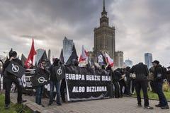 Jaarlijks maart van de Nationale Onafhankelijkheid van Polen ` s Dag 2017 stock fotografie