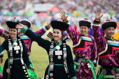 Jaarlijks Nadaam-Festival, traditionele Mongilian Stock Fotografie