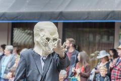 Jaarlijks UFOfestival in McMinnville Oregon stock foto's