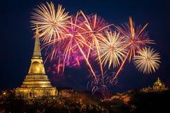 Jaarlijks vuurwerkfestival stock foto's