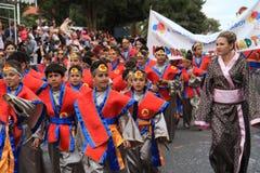 Jaarlijkse Carnaval-Optocht. Royalty-vrije Stock Foto