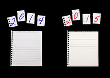 Jaarlijkse, jaarvergelijking Boekhouding, financiële zaken, econom Stock Foto