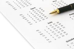 Jaarlijkse kalender Stock Foto's