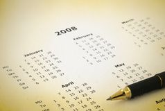Jaarlijkse kalender royalty-vrije stock foto