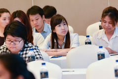 Jaarlijkse vergadering van de Thaise Maatschappij voor Biotechnologie Royalty-vrije Stock Foto's