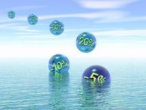 Jaarlijkse verkoop. 3D. royalty-vrije stock afbeelding