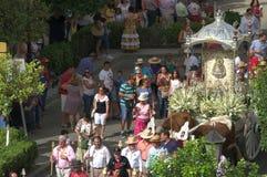 Jaarlijkse viering van het Patroonheilige in Carmona 27 Stock Foto's