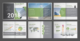 Jaarverslag, Bedrijfprofiel, Bureau Brochure, Multifunctioneel presentatiemalplaatje vector illustratie