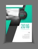 Jaarverslag Vectorillustratie Brochure met tekst A4 grootte c Royalty-vrije Stock Afbeelding