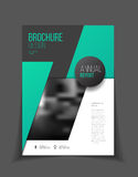 Jaarverslag Vectorillustratie Brochure met tekst A4 grootte c Stock Afbeelding