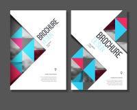 Jaarverslag Vectorillustratie Brochure met tekst A4 grootte c Royalty-vrije Stock Afbeeldingen