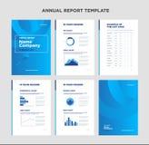 Jaarverslagmalplaatje met dekkingsontwerp en infographic Stock Fotografie