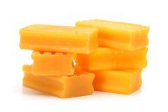 Jabón amarillo Fotos de archivo libres de regalías