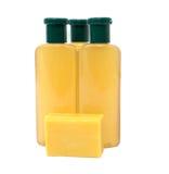 Jabón amarillo Imagen de archivo libre de regalías