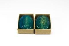 Jabón azul del loofha Fotografía de archivo libre de regalías