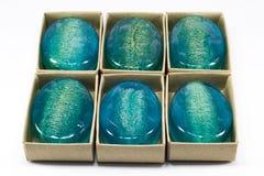 Jabón azul del loofha Imagen de archivo libre de regalías