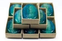 Jabón azul del loofha Imágenes de archivo libres de regalías