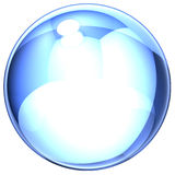 Jabón-burbuja azul Imágenes de archivo libres de regalías