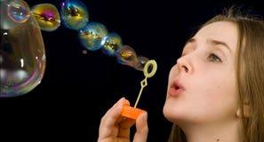 Jabón-burbujas Foto de archivo libre de regalías