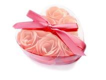 Jabón color de rosa del color de rosa en un rectángulo. Fotografía de archivo libre de regalías