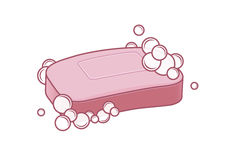 Jabón con espuma libre illustration