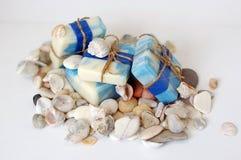 Jabón con los minerales Imagen de archivo libre de regalías
